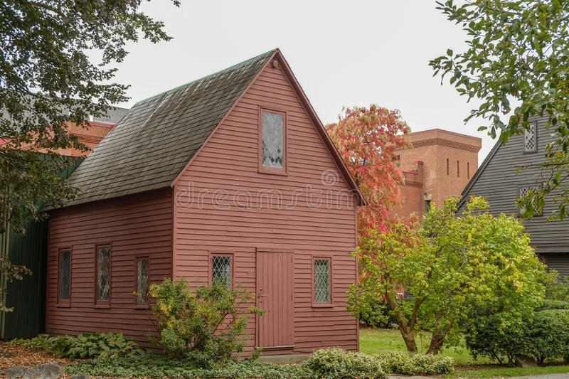 English sixteenth century home on Cape Cod. Fully restored stock image