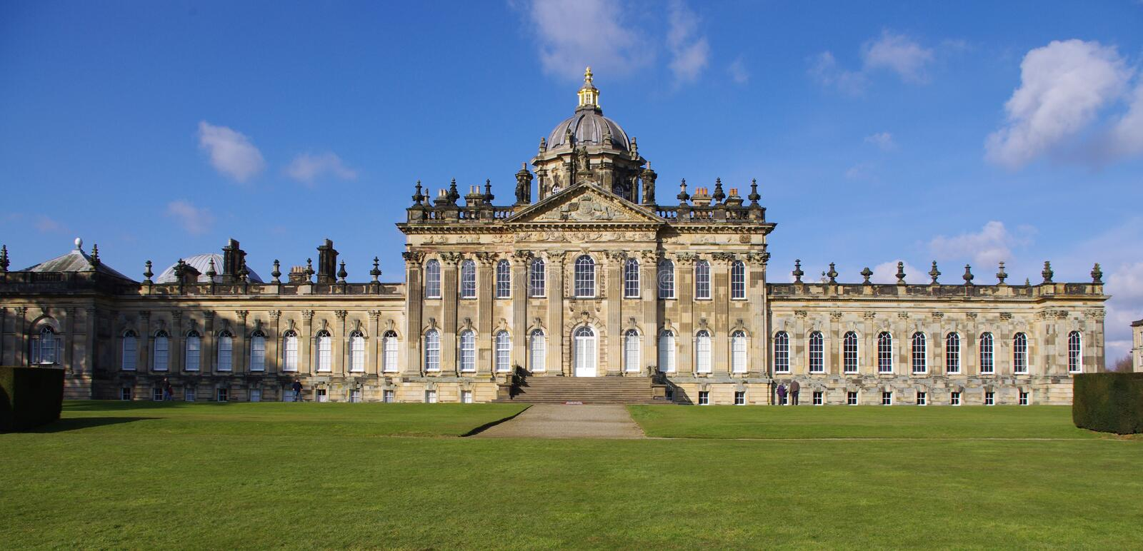 English Stately Home. Castle Howard, historic stately home near York, North Yorkshire, England the setting for the film Brideshead Revisited stock photography