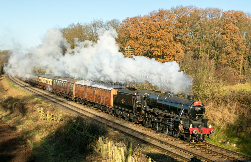 English steam train royalty free stock image
