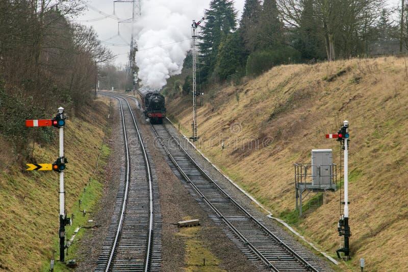 English steam train royalty free stock photos