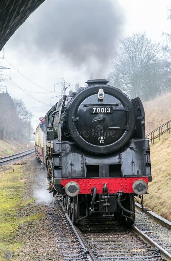 English steam train stock image