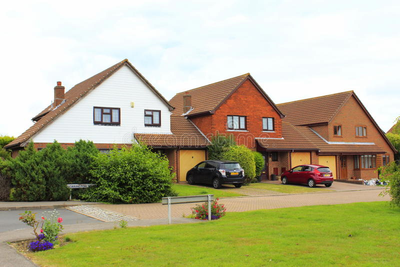 English suburban residential houses royalty free stock photo