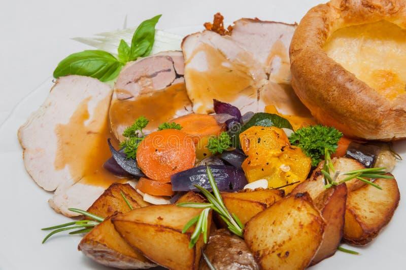 English Sunday Roast stock images
