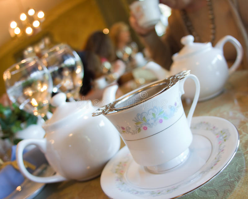 Download English Tea stock image. Image of plate, teapot, strainer - 26019259