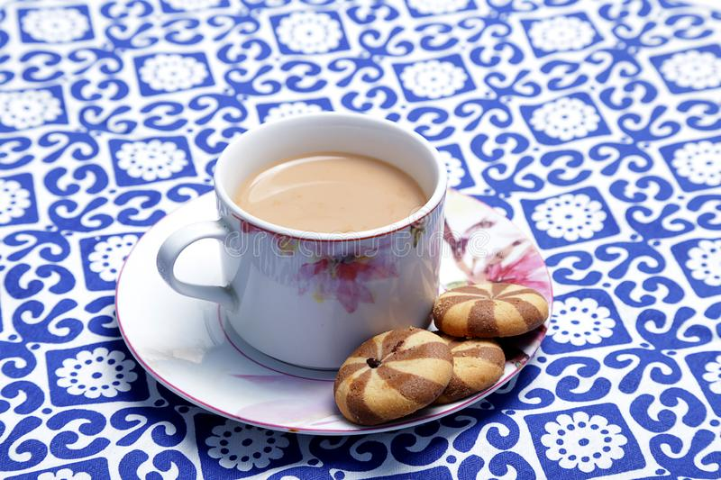 English tea and biscuit. stock images