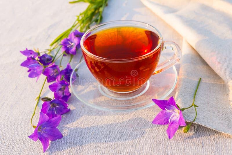 English tea in the garden stock photos