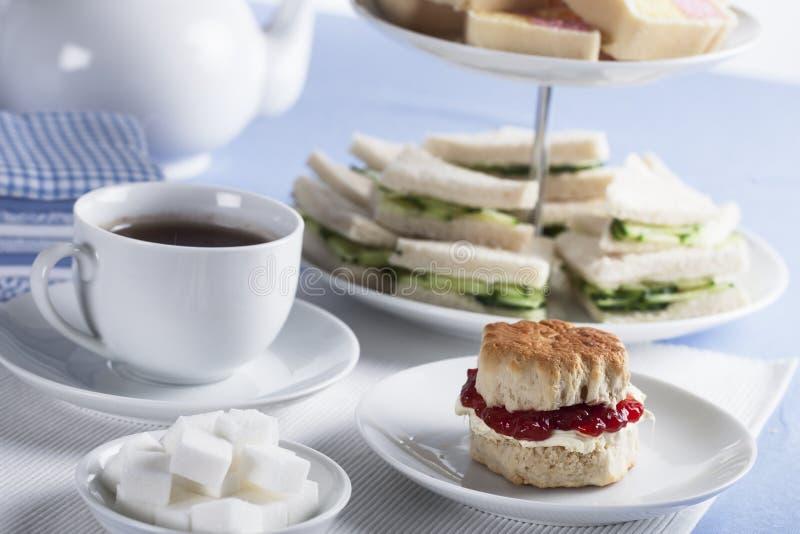 english tea time stock image image of strawberry beverage 36369731. Black Bedroom Furniture Sets. Home Design Ideas