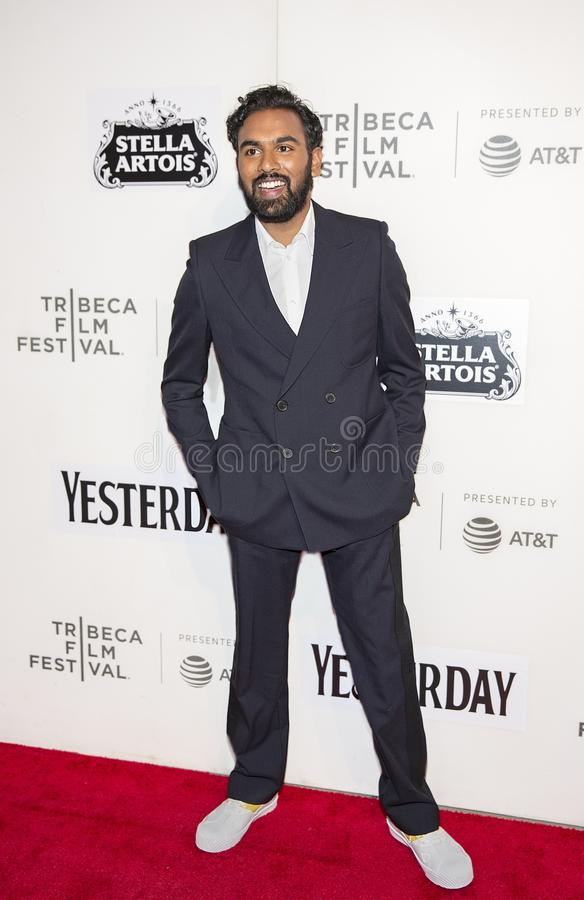 Himesh Patel at World Premiere of `Yesterday` at 2019 Tribeca Film Festival. English television and movie actor Himesh Patel arrives at the World Premiere of ` royalty free stock photos