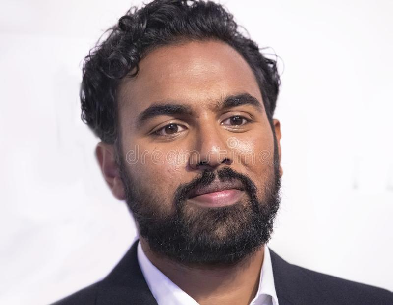 Himesh Patel at World Premiere of `Yesterday` at 2019 Tribeca Film Festival. English television and movie actor Himesh Patel arrives at the World Premiere of ` stock images