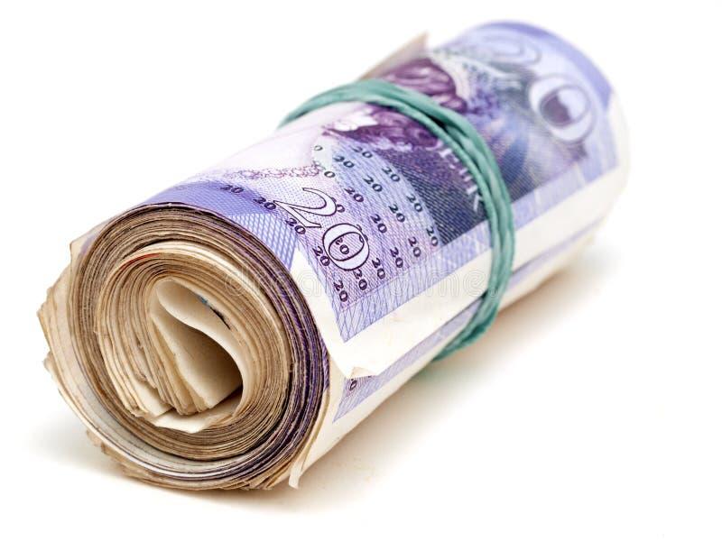 English Twenty Pound Notes Royalty Free Stock Photo