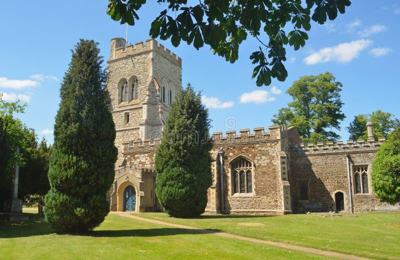 English Village Church stock photo