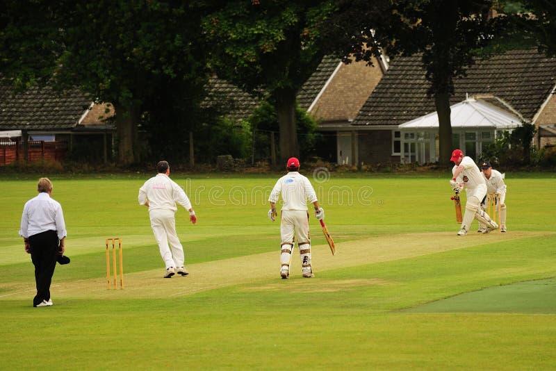 English village cricket, Yorkshire stock photos