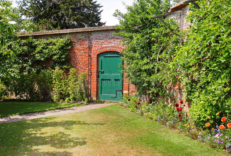 Download An English Walled Garden stock photo. Image of gardening - 14905504