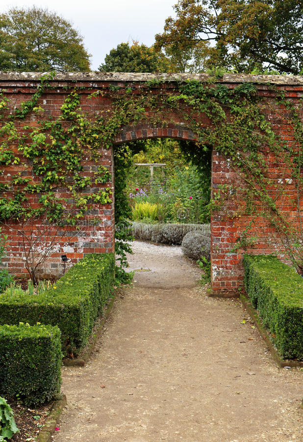 An English Walled Garden stock image