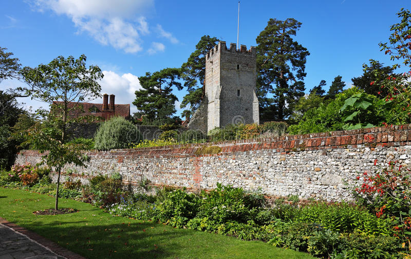 An English Walled Garden stock photography
