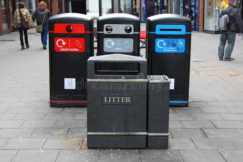 English waste disposal stock image