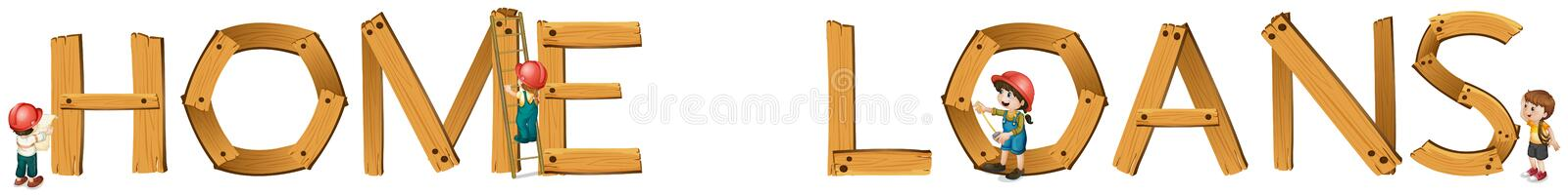English word home loans stock illustration
