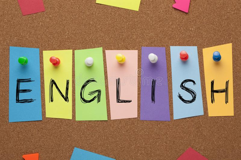 English Word Concept royalty free stock image