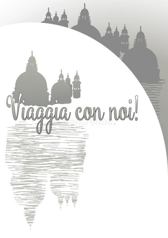 Engodo noi de Venezia Viaggia ilustração do vetor