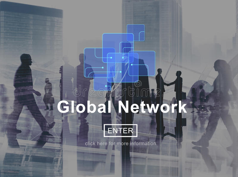 Engodo social do Internet da tecnologia de rede da conexão de rede global imagem de stock