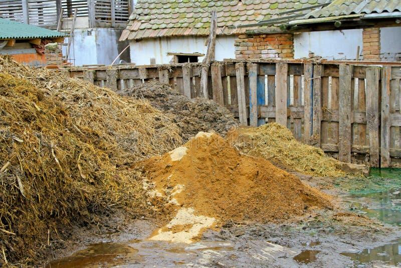 Engrais de bétail photos libres de droits