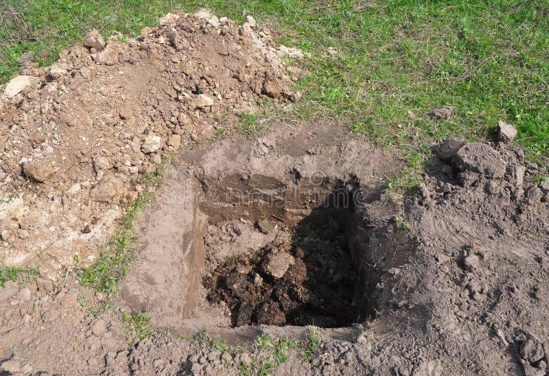 Engrais organique de compost organique de fertilisation d'arbre pour la plantation d'arbres Comment planter un noyer photos libres de droits