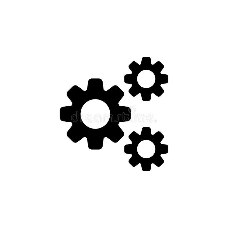 Engrana el icono de las configuraciones Las muestras y los símbolos se pueden utilizar para la web, logotipo, app móvil, UI, UX libre illustration