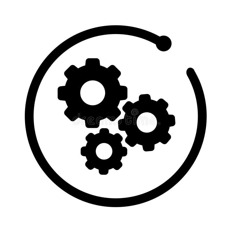 Engrana el icono Icono de los ajustes del vector plantilla automotriz del logotipo Logotipo automotriz con el marco moderno aisla stock de ilustración
