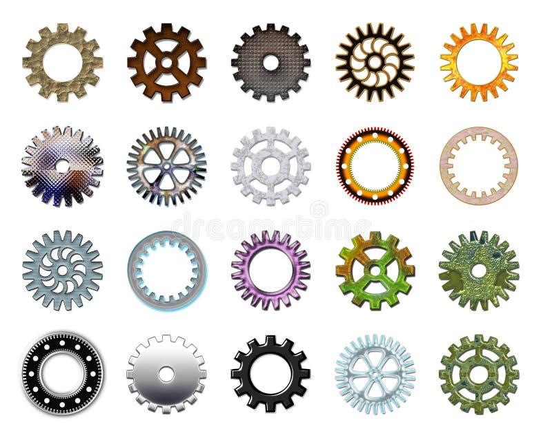 Engrana la colección #3 ilustración del vector