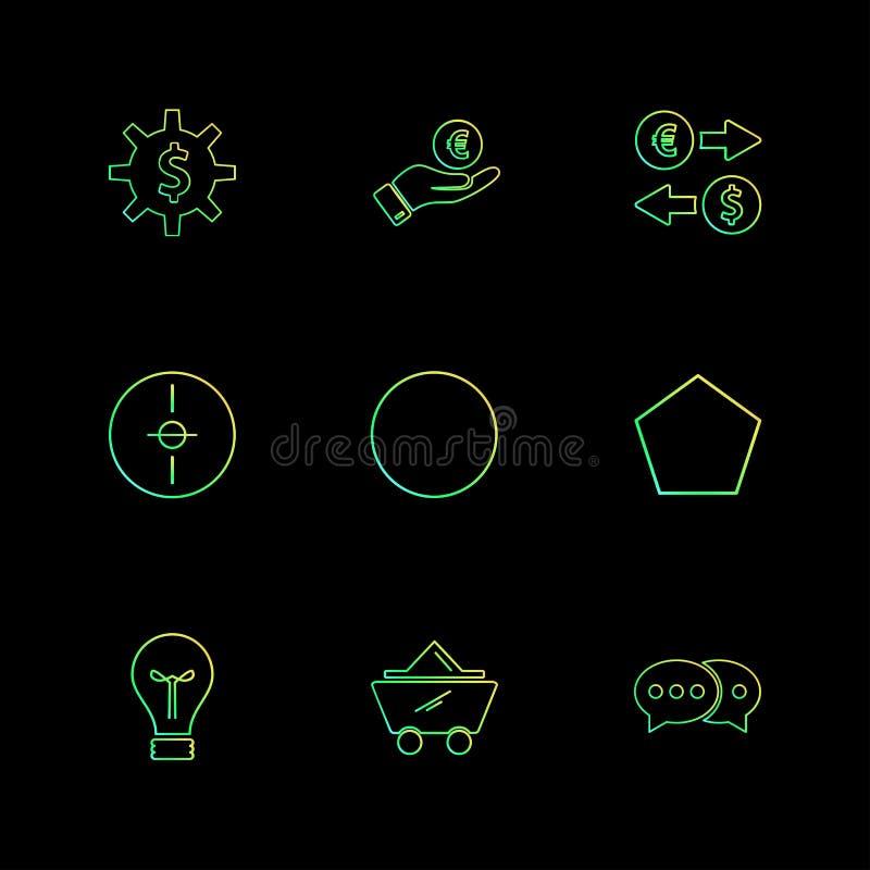engranaje, dólar, círculo, blanco, idea, formas, electrónicas, ilustración del vector