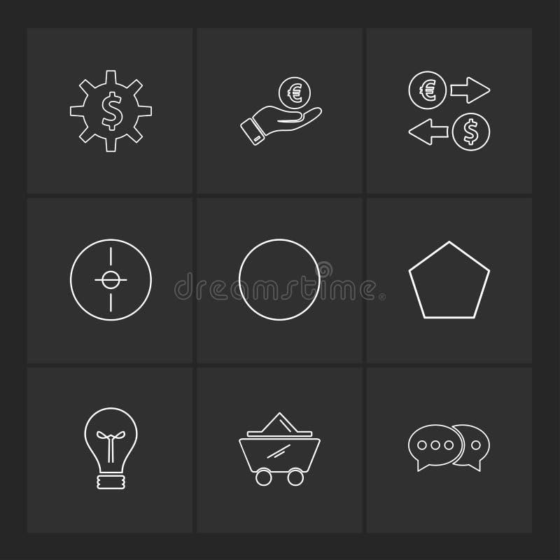 engranaje, dólar, círculo, blanco, idea, formas, electrónicas, libre illustration