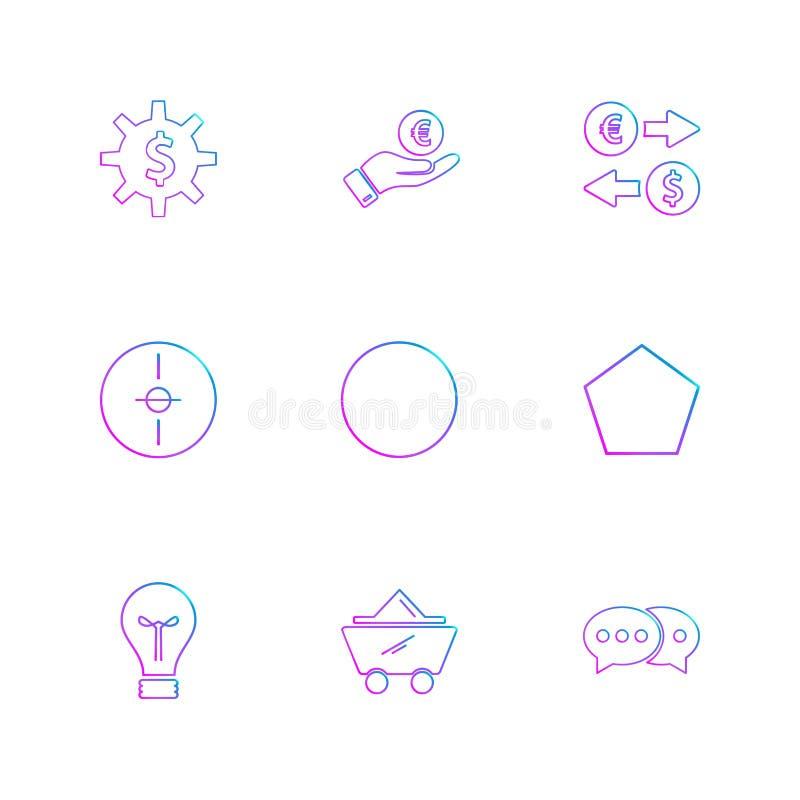 engranaje, dólar, círculo, blanco, idea, formas, electrónicas, stock de ilustración
