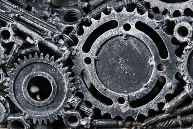 Engranaje de acero del metal del mecánico imagenes de archivo
