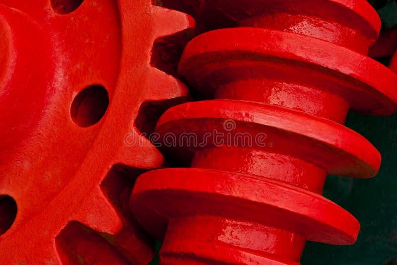 Engranaje de gusano viejo de la maquinaria industrial imágenes de archivo libres de regalías
