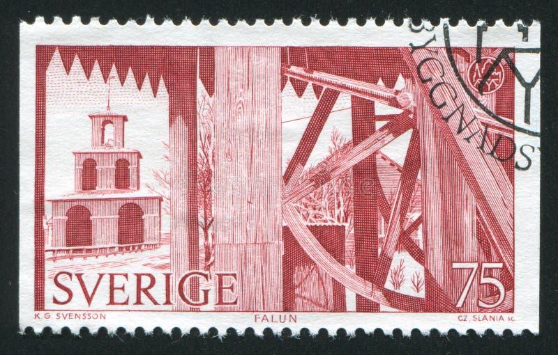 Engranaje de la bocamina de la mina de Falun foto de archivo