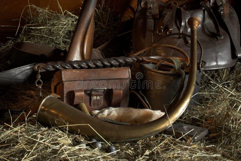 Engranaje del cazador foto de archivo