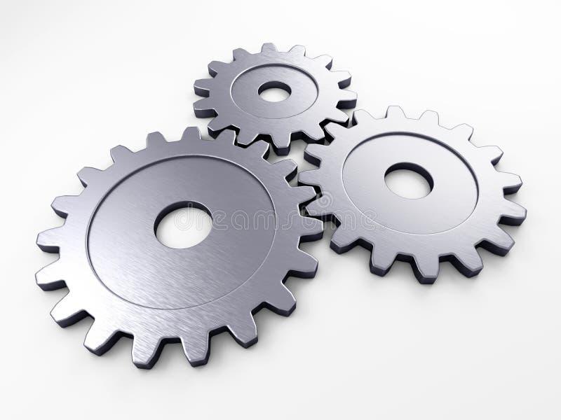 Engranaje del metal para poner conceptos ilustración del vector