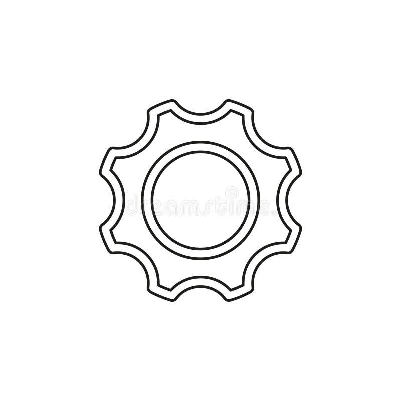 Engranaje del vector - icono del diente - s?mbolo de los ajustes stock de ilustración