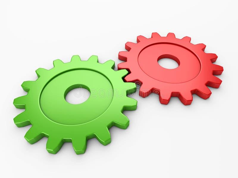 Engranaje dos para poner conceptos ilustración del vector