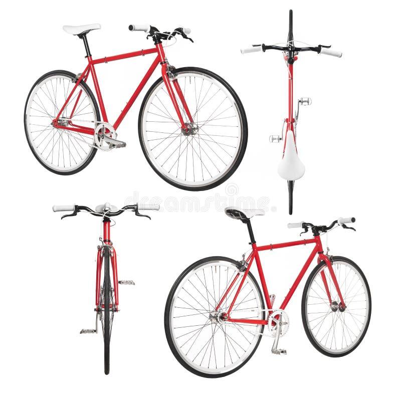 Engranaje fijo de la bicicleta de la ciudad a partir de la visión el cuatro  foto de archivo