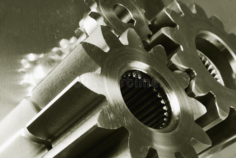 Engranaje-mecánicos con a dos caras-efecto foto de archivo