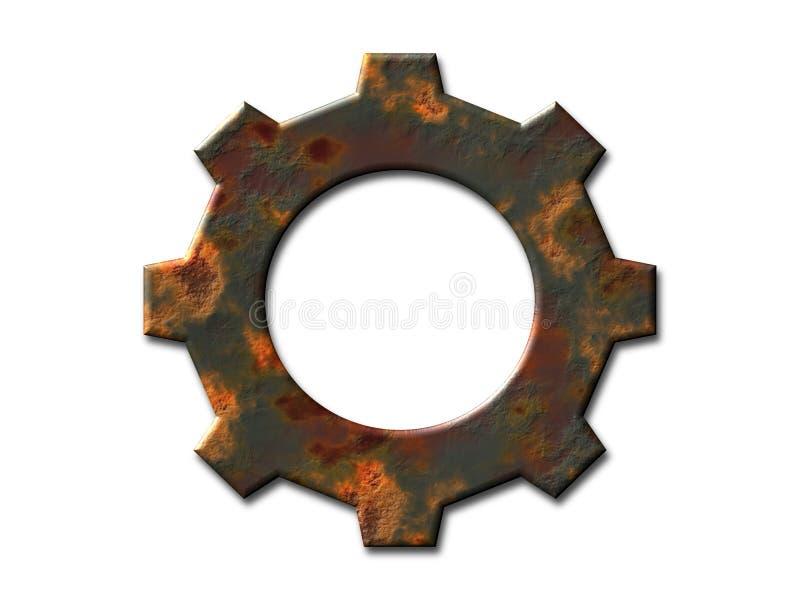 Engranaje oxidado ilustración del vector