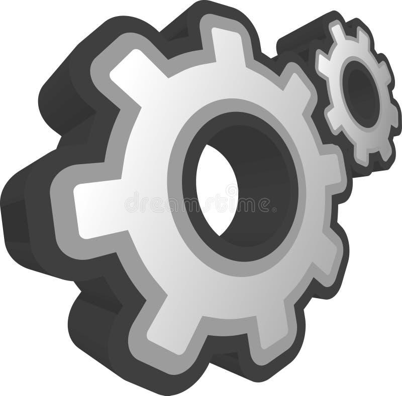 ENGRANAJES 3D stock de ilustración
