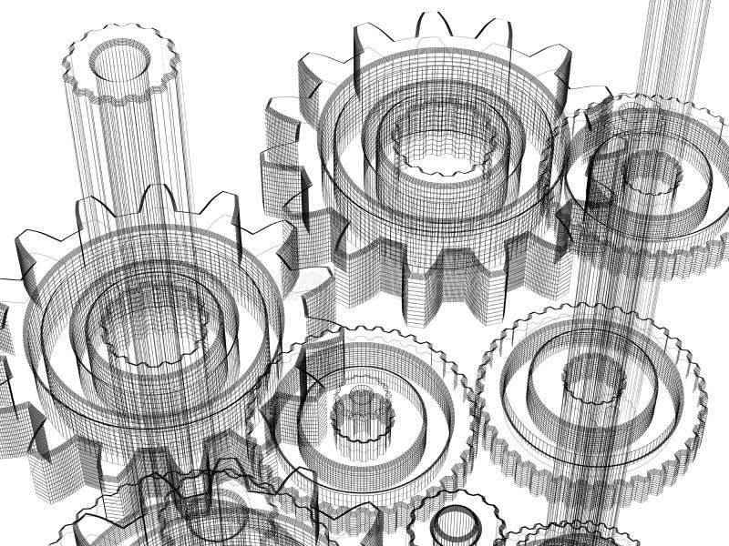 Engranajes - concepto de diseño industrial libre illustration