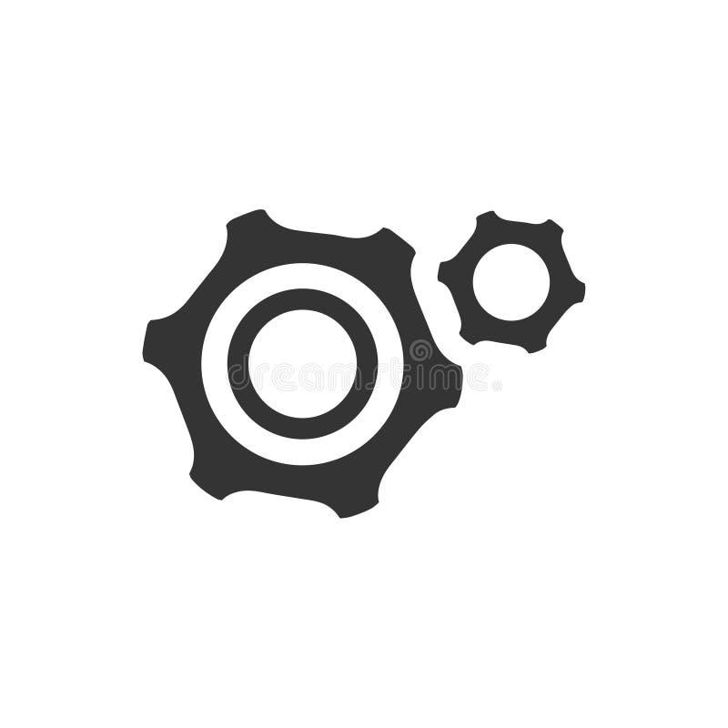 Engranajes, configuración, icono ilustración del vector