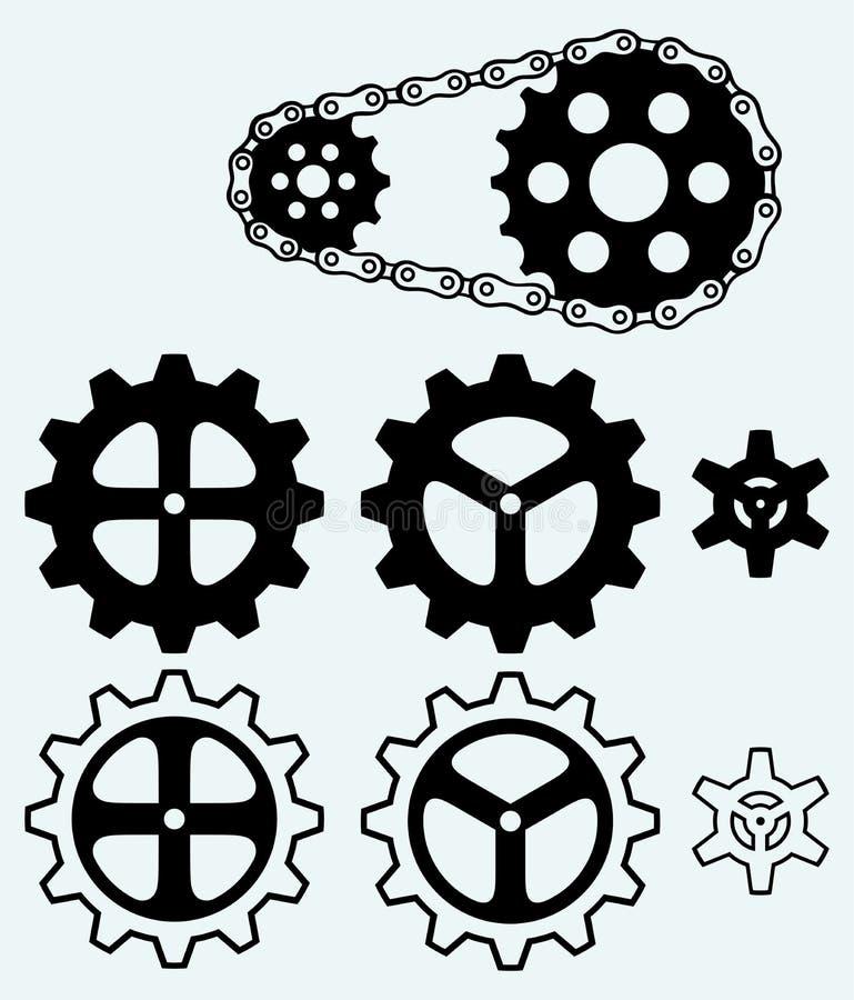Sistema de engranajes con cadena