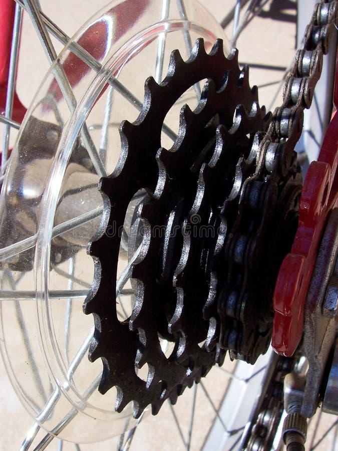 Engranajes de la bici imagen de archivo