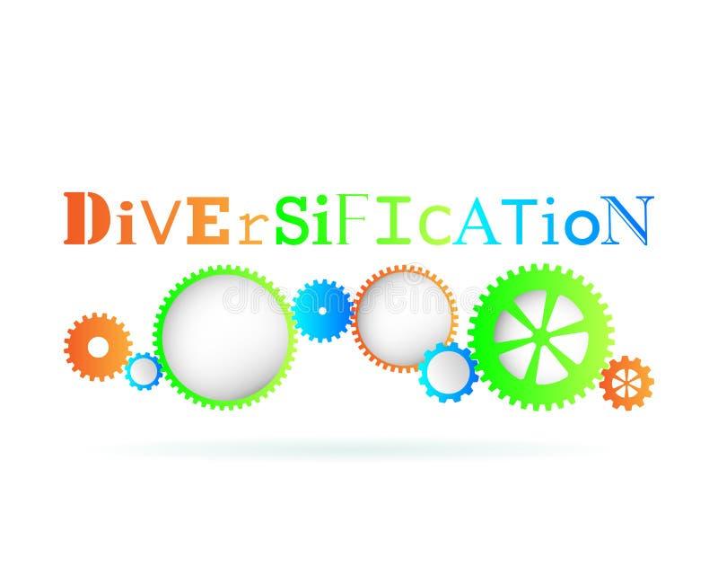 Engranajes de la diversificación ilustración del vector