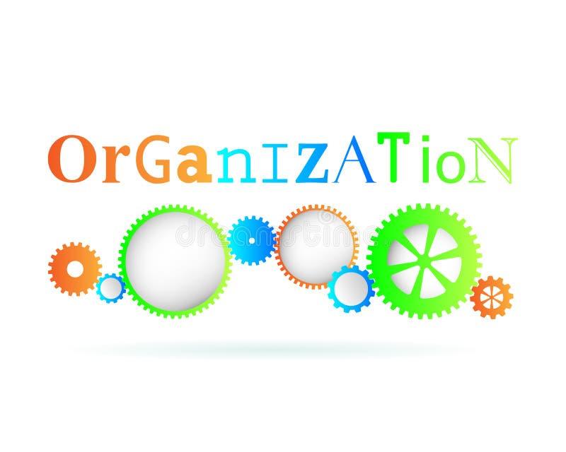 Engranajes de la organización stock de ilustración
