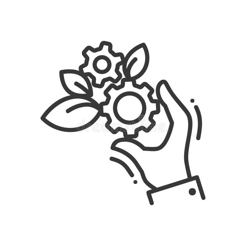 Engranajes de la vida - sola línea icono del vector moderno libre illustration